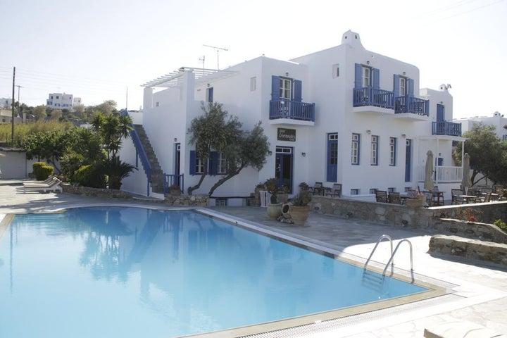 Vienoulas Garden in Mykonos Town, Mykonos, Greek Islands
