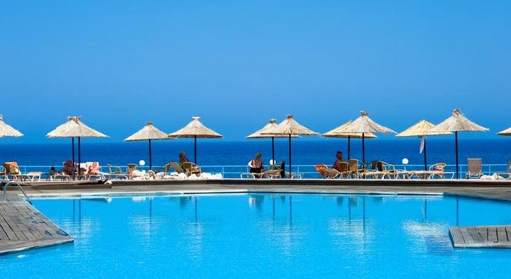 Lutania Beach in Kolymbia, Rhodes, Greek Islands
