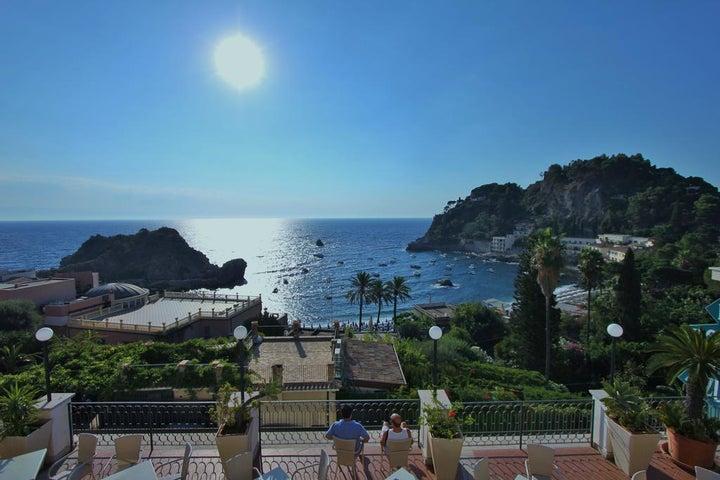 Baia Azzurra in Taormina, Sicily, Italy