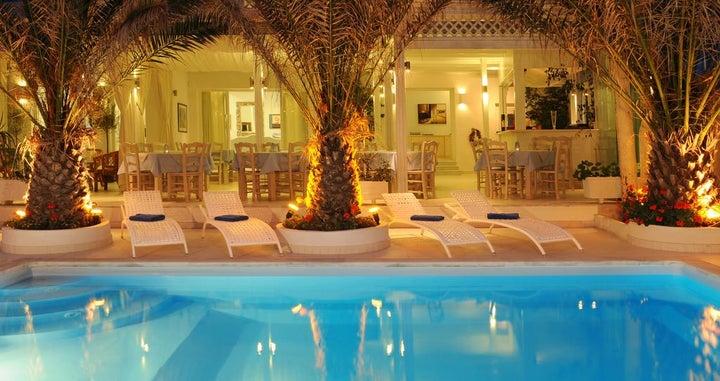 Alesahne Beach Hotel in Kamari, Santorini, Greek Islands