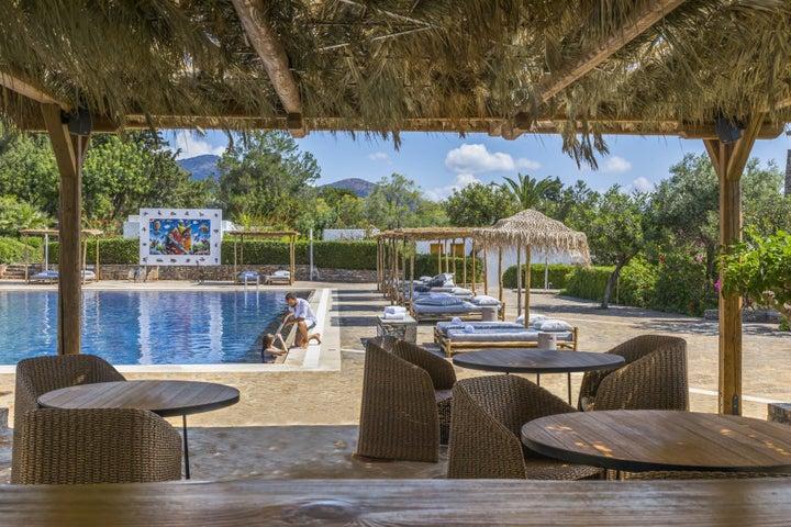 Minos Beach Art Hotel in Aghios Nikolaos, Crete, Greek Islands