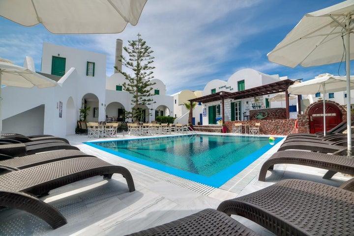 Scorpios Beach Hotel in Monolithos, Santorini, Greek Islands