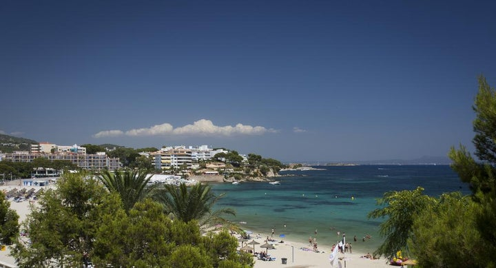 Agua Beach in Palma Nova, Majorca, Balearic Islands