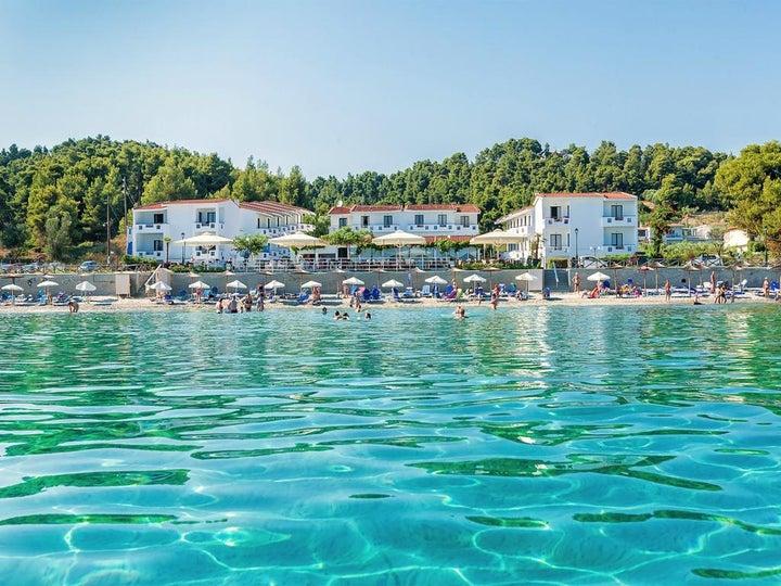 Dolphin Beach in Possidi, Halkidiki, Greece