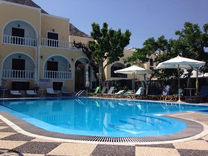 Blue Sea Hotel and Studios in Kamari, Santorini, Greek Islands