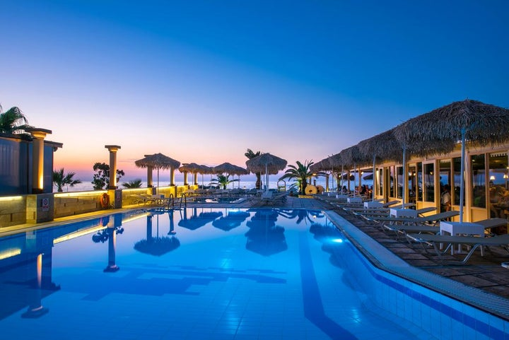 Odyssia Beach Hotel in Rethymnon, Crete, Greek Islands