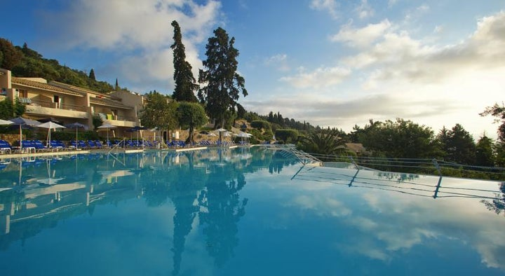 Aeolos Beach Resort in Perama, Corfu, Greek Islands
