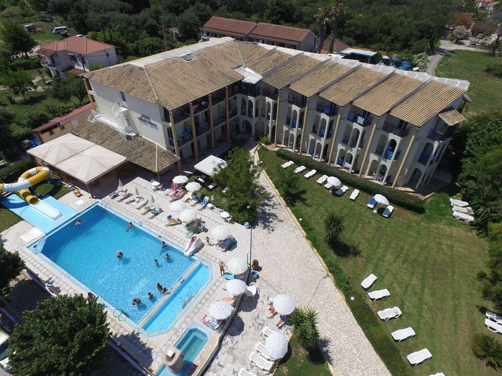 Silver Beach Hotel in Roda, Corfu, Greek Islands