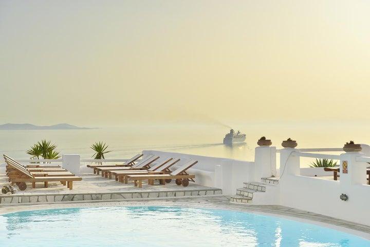 Paolas Beach in Aghios Stefanos, Mykonos, Greek Islands
