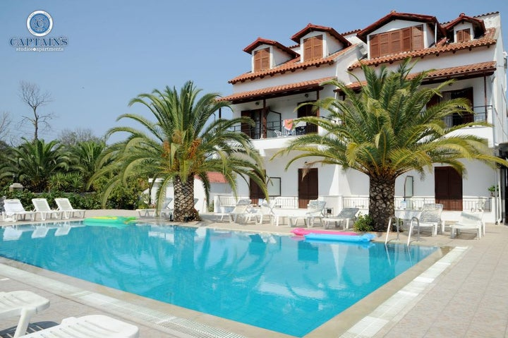 Captain's Studios & Apartments in Kavos, Corfu, Greek Islands