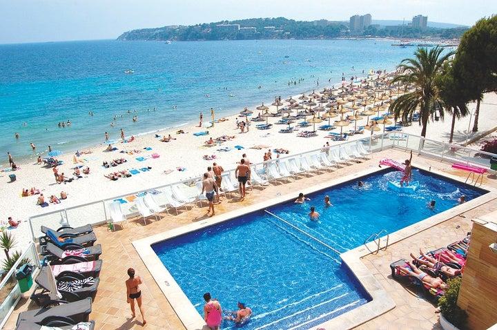 Flamboyan Caribe Hotel in Magaluf, Majorca, Balearic Islands