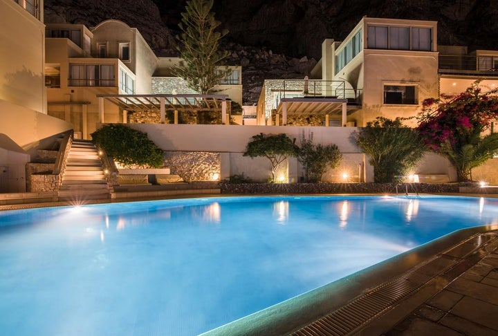 Antinea Suites & Spa Hotel in Kamari, Santorini, Greek Islands