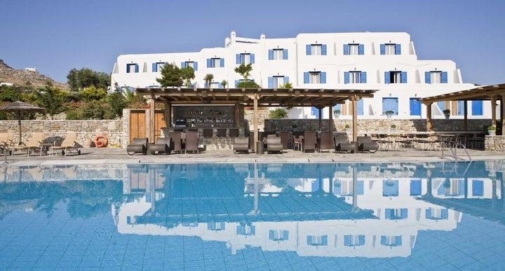 Yiannaki Hotel In Ornos Mykonos Greek Islands