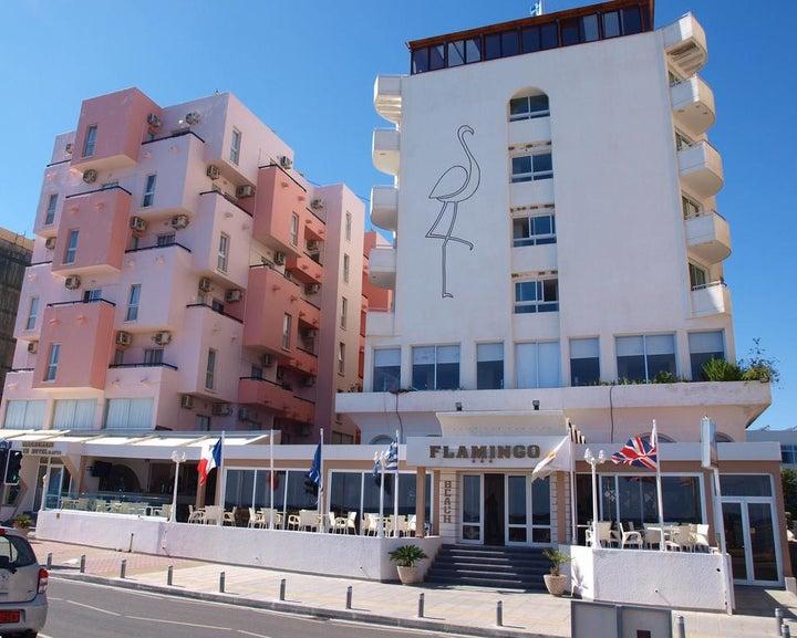 Flamingo Beach in Larnaca, Cyprus