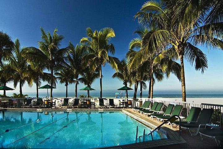 Grand Plaza Beachfront Resort Hotel in St Pete Beach, Florida, USA