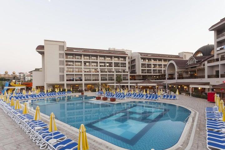 Seher Sun Palace in Side, Antalya, Turkey