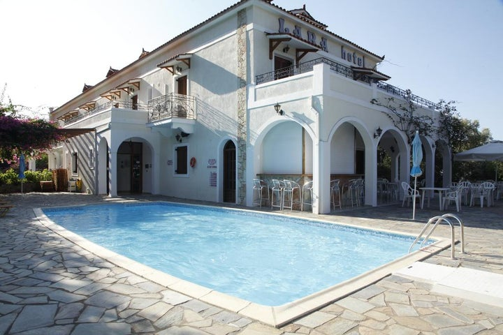 Lara Hotel in Lourdas, Kefalonia, Greek Islands