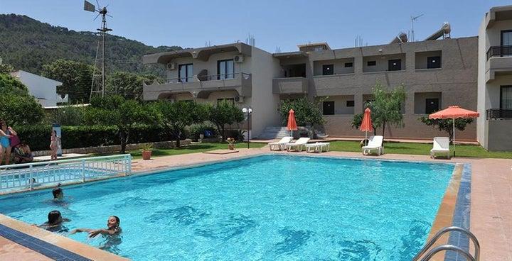 Santa Helena Hotel in Ialyssos, Rhodes, Greek Islands