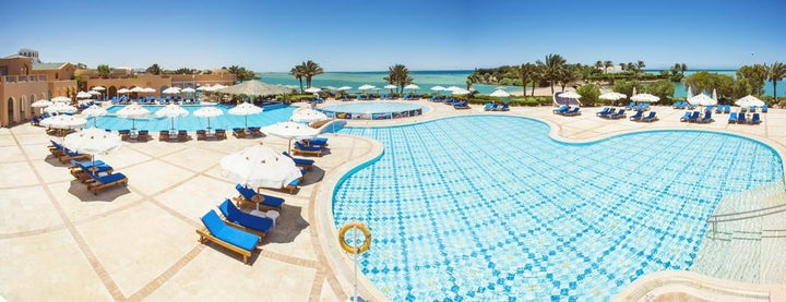 Bellevue Beach Hotel in El Gouna, Red Sea, Egypt
