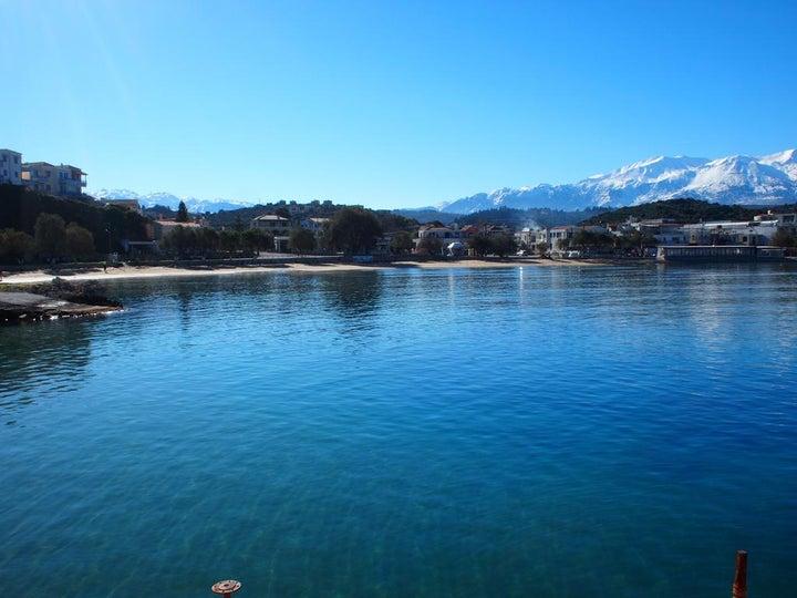 Almyrida Beach in Almyrida, Crete, Greek Islands