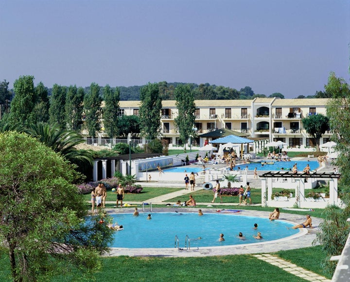 Messonghi Beach Hotel in Messonghi, Corfu, Greek Islands