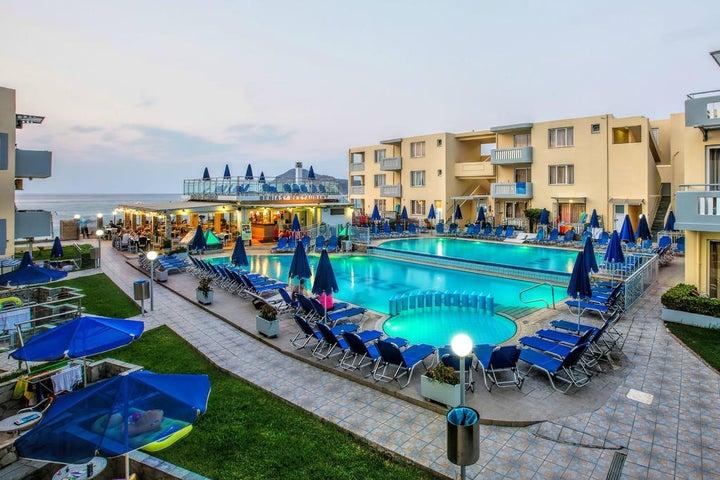 Menia Beach Hotel in Platanias, Crete, Greek Islands