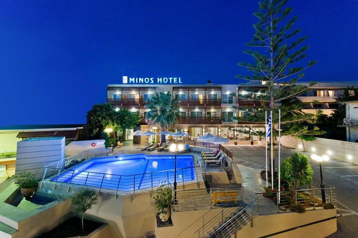 Minos Hotel in Rethymnon, Crete, Greek Islands