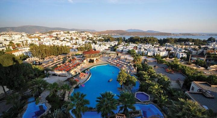 Palm Garden in Gumbet, Aegean Coast, Turkey