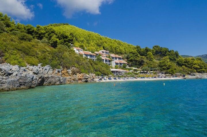 Adrina Beach in Panormos, Skopelos, Greek Islands