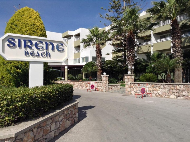Sirene Beach Hotel in Ixia, Rhodes, Greek Islands