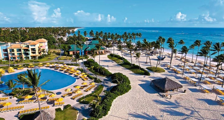 Ocean Blue And Sand In Bavaro Punta Cana Dominican Republic