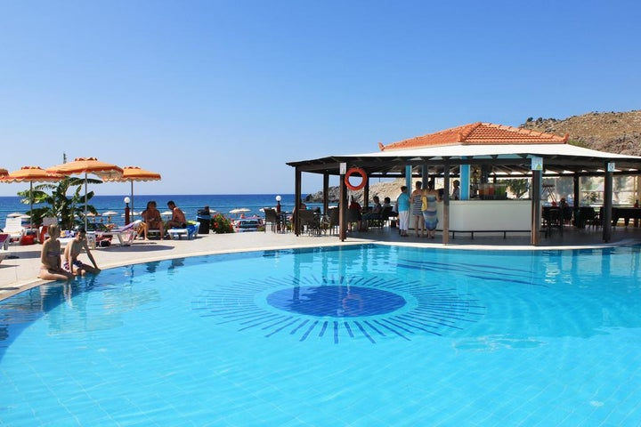 Kamari Beach Hotel in Lardos, Rhodes, Greek Islands