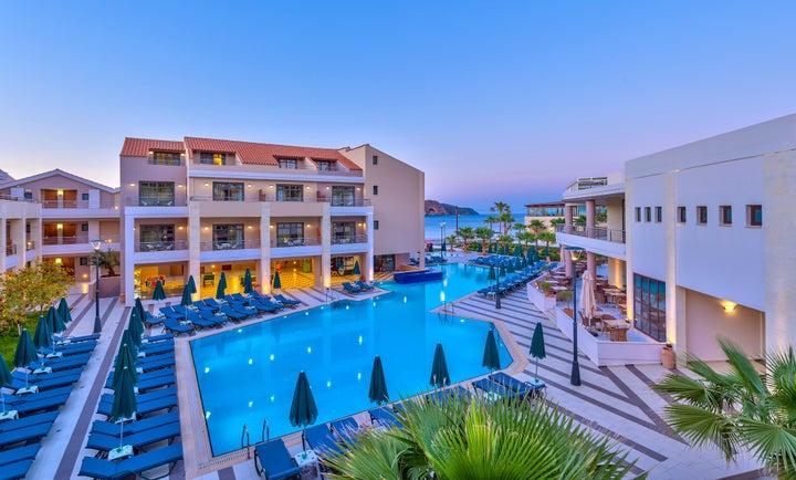 Porto Platanias Beach Resort in Platanias, Crete, Greek Islands