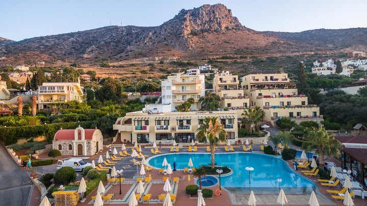 Asterias Village Hotel in Hersonissos, Crete, Greek Islands