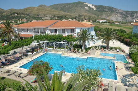 Sirocco Hotel in Kalamaki, Zante, Greek Islands