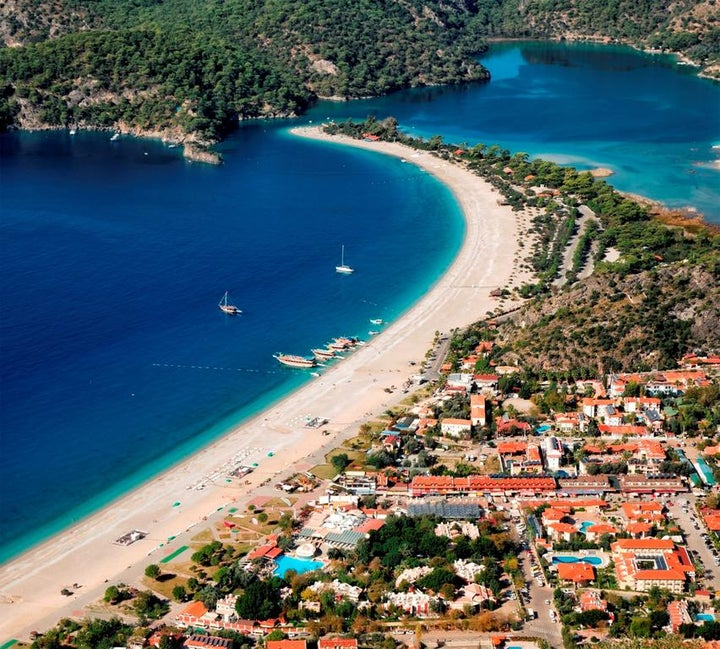 Belcekiz Beach Club in Olu Deniz, Dalaman, Turkey