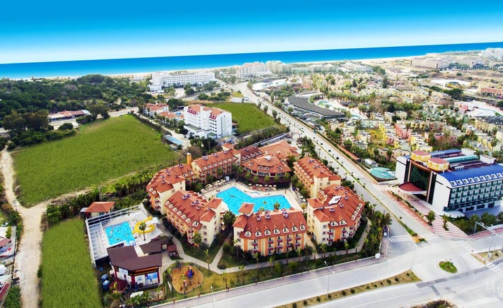 Orfeus Park in Side, Antalya, Turkey
