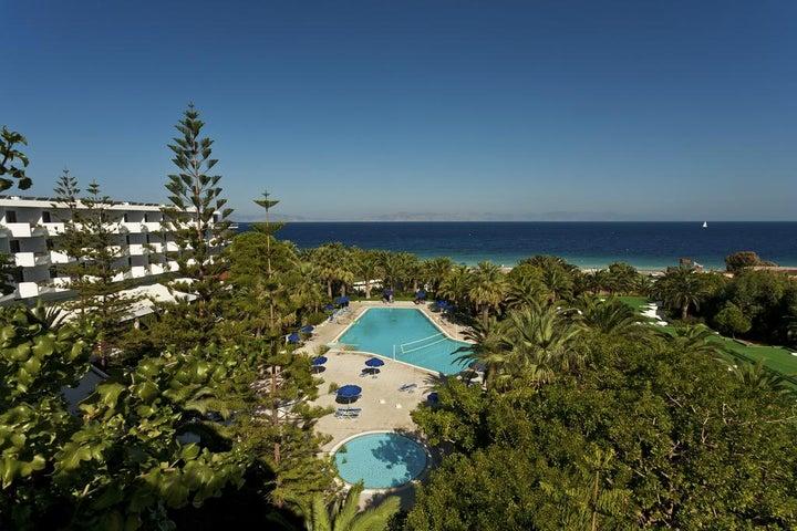 Blue Horizon Beach Resort in Ialyssos, Rhodes, Greek Islands