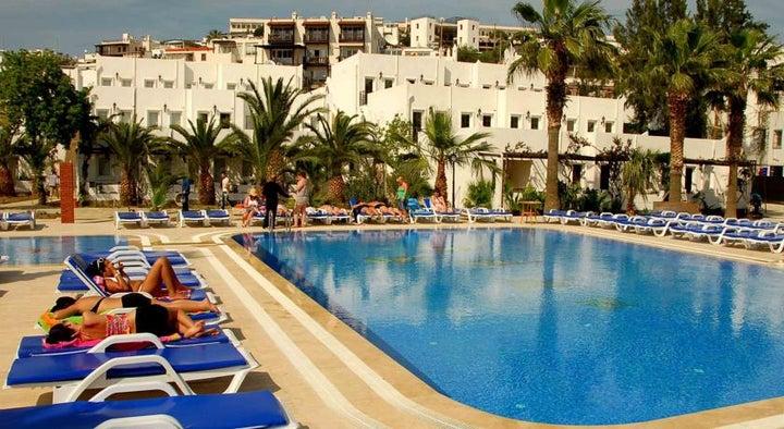 Nagi Beach Hotel in Gumbet, Aegean Coast, Turkey