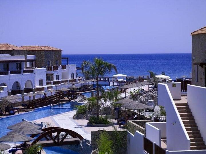 Costa Lindia Beach in Lardos, Rhodes, Greek Islands