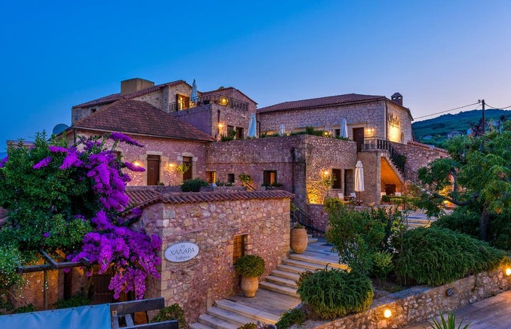 Spilia Village in Kolymbari, Crete, Greek Islands