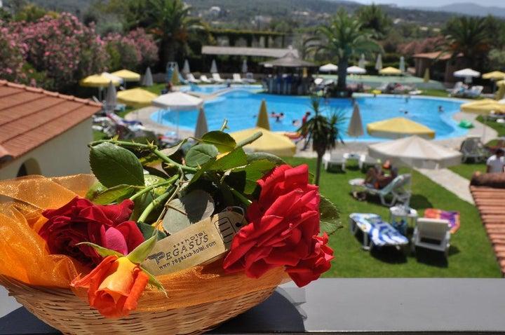Pegasus Hotel in Roda, Corfu, Greek Islands
