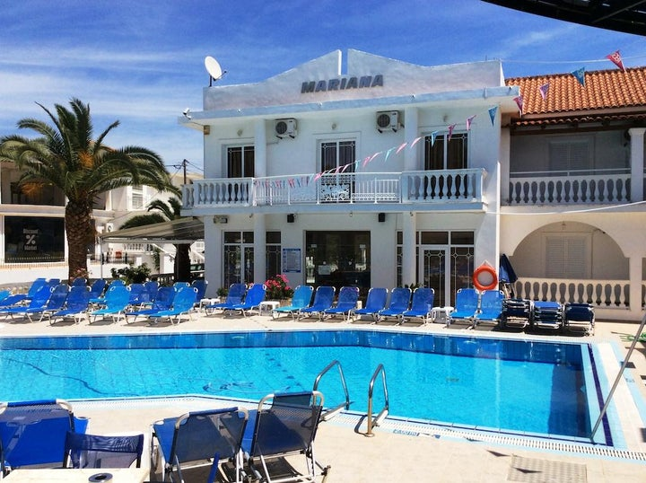 Mariana Hotel and Studios in Laganas, Zante, Greek Islands