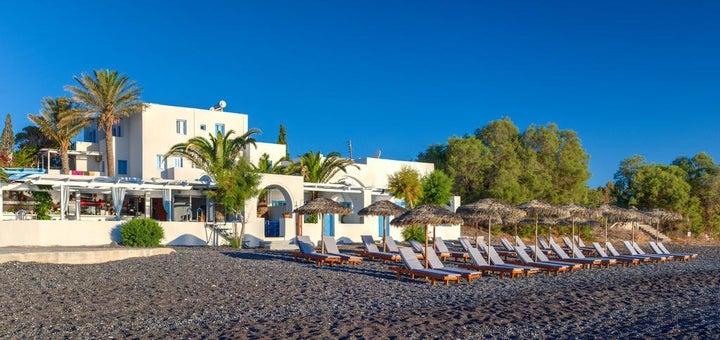 Sigalas Hotel and Apartments in Kamari, Santorini, Greek Islands
