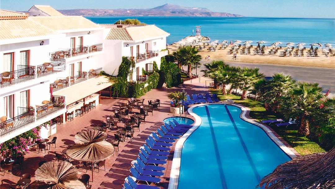Almyrida Beach in Almyrida Crete