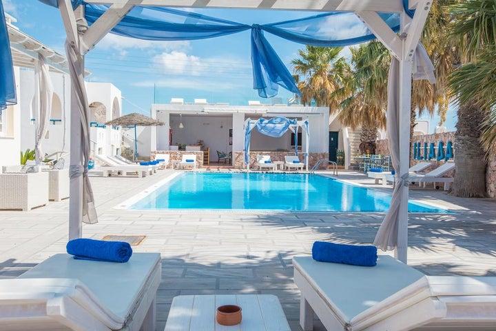 Iliada Hotel in Perissa, Santorini, Greek Islands