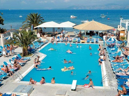 Trabukos Beach Complex in Kavos, Corfu, Greek Islands